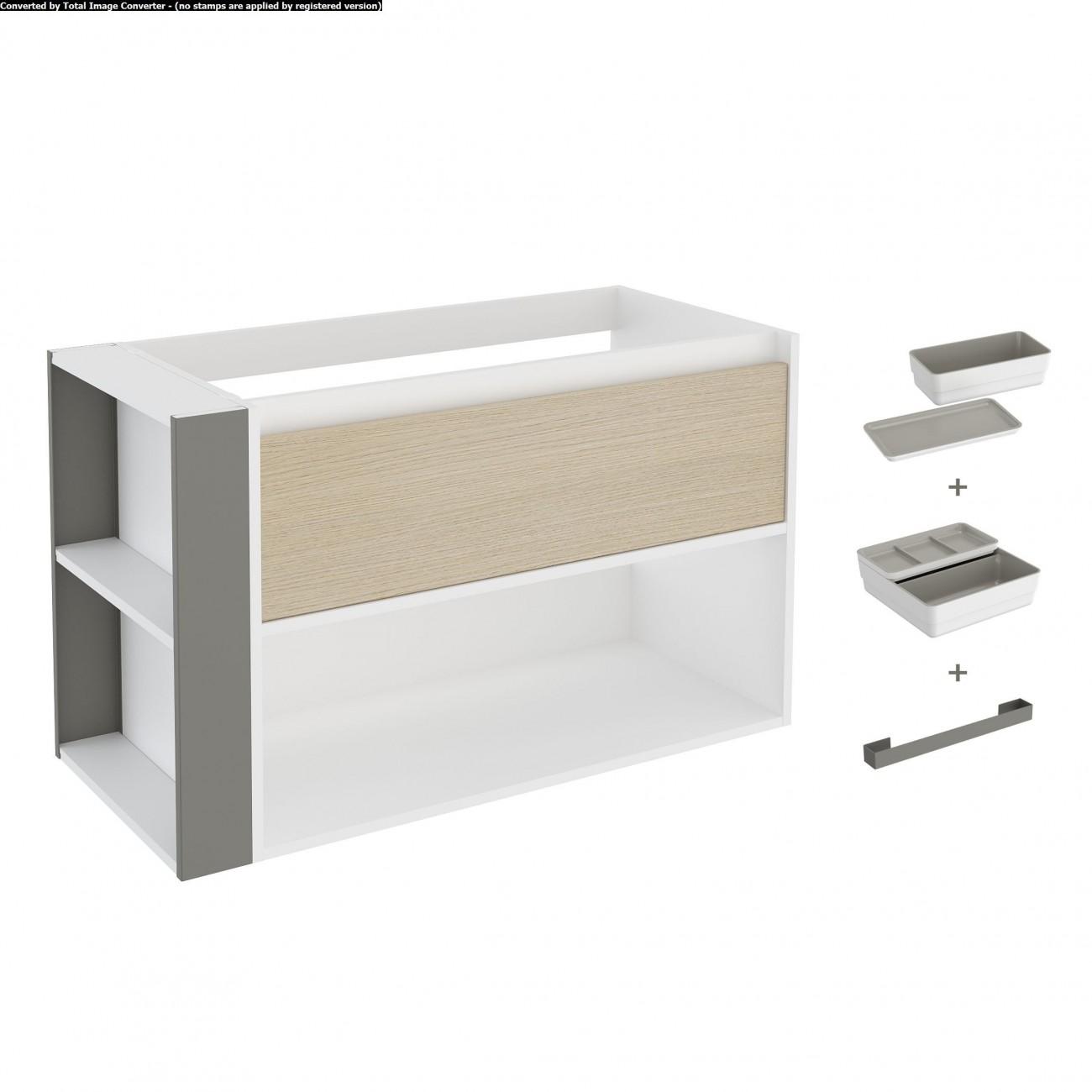 Bath+ by Cosmic Bsmart - Mueble 1 cajón y 1 estante para lavabo
