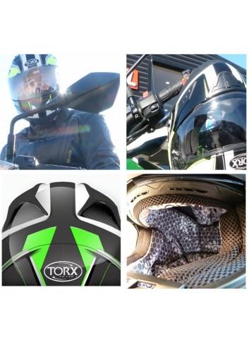 TORX Casco Moto Billy Black: XXL