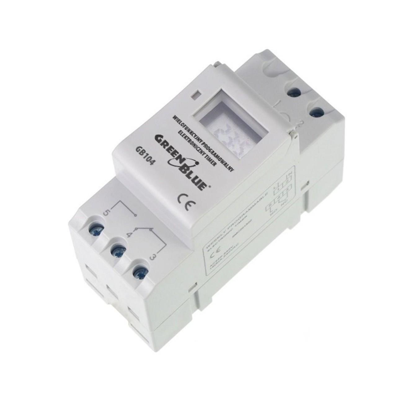 GreenBlue - GB104 Temporizador digital, planificador semanal