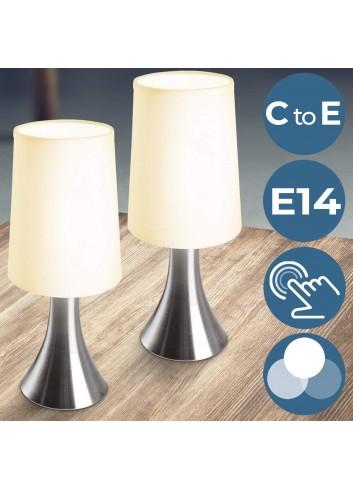 Jago - Juego de 2 lámparas de mesa táctil con 3 intensidades de
