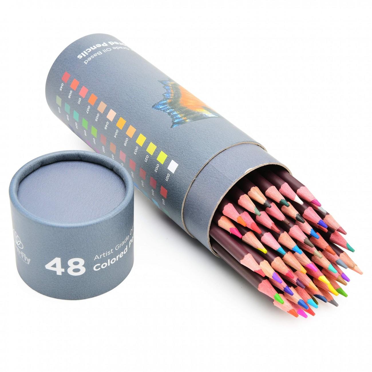 48 Lápices De Colores De Dibujo Profesional Para Artistas Lápices Con Base De óleo Incluye Lápiz Color Carne
