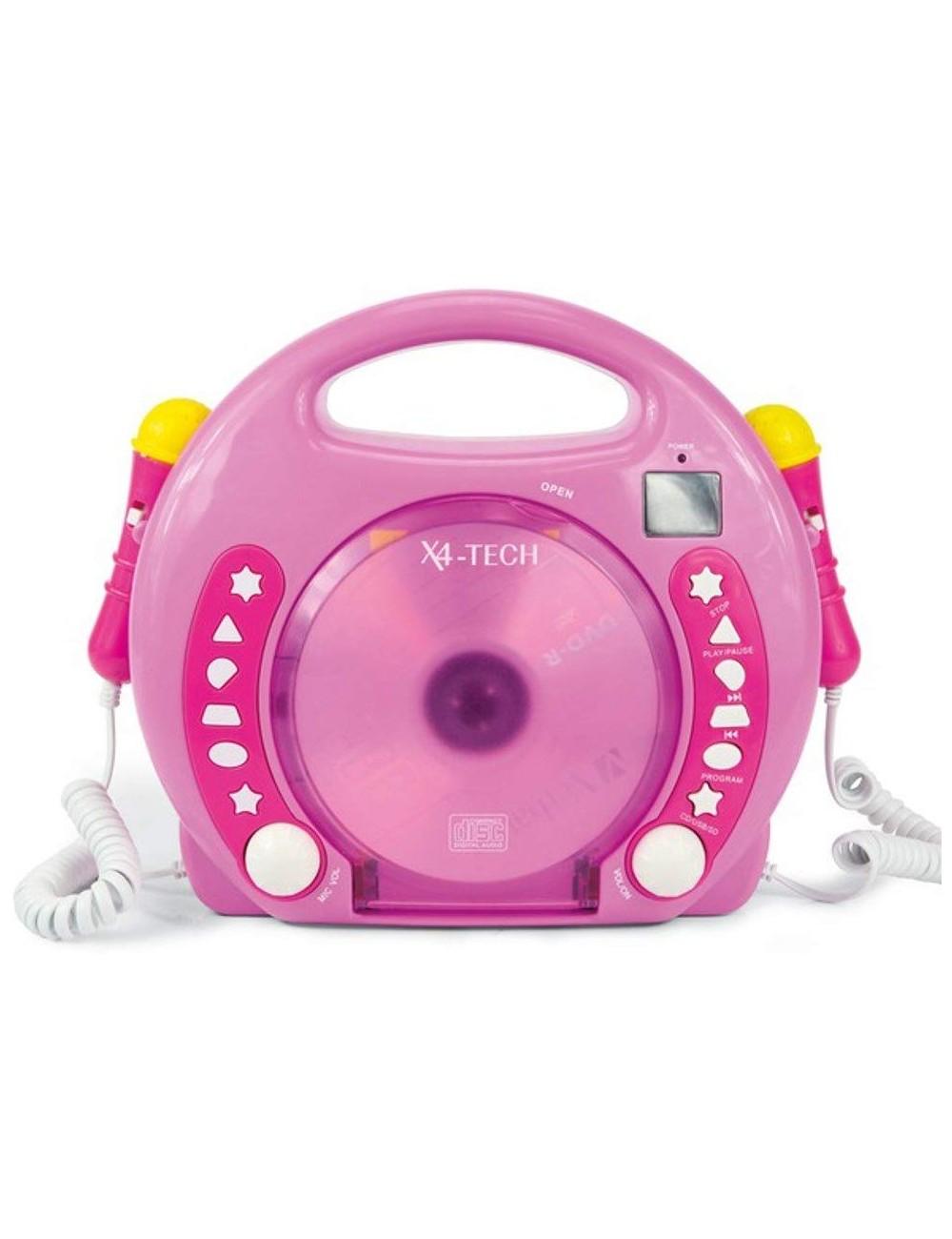 von X4-TECH 701481 - Karaoke Reproductor de CD MP3 2 Mikros